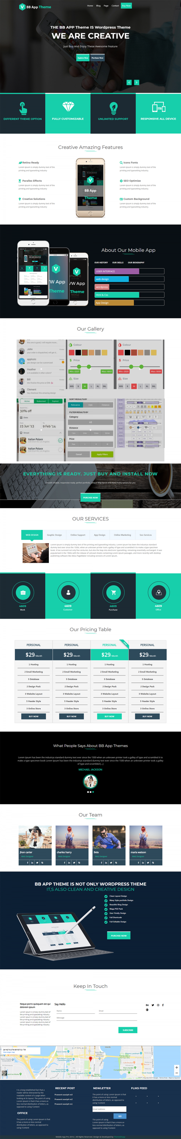 BB Mobile Responsive Business Wordpress Theme