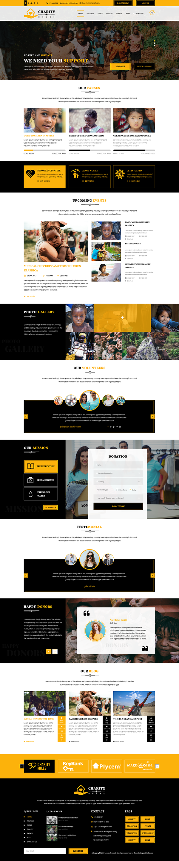 Premium Charity WordPress Theme