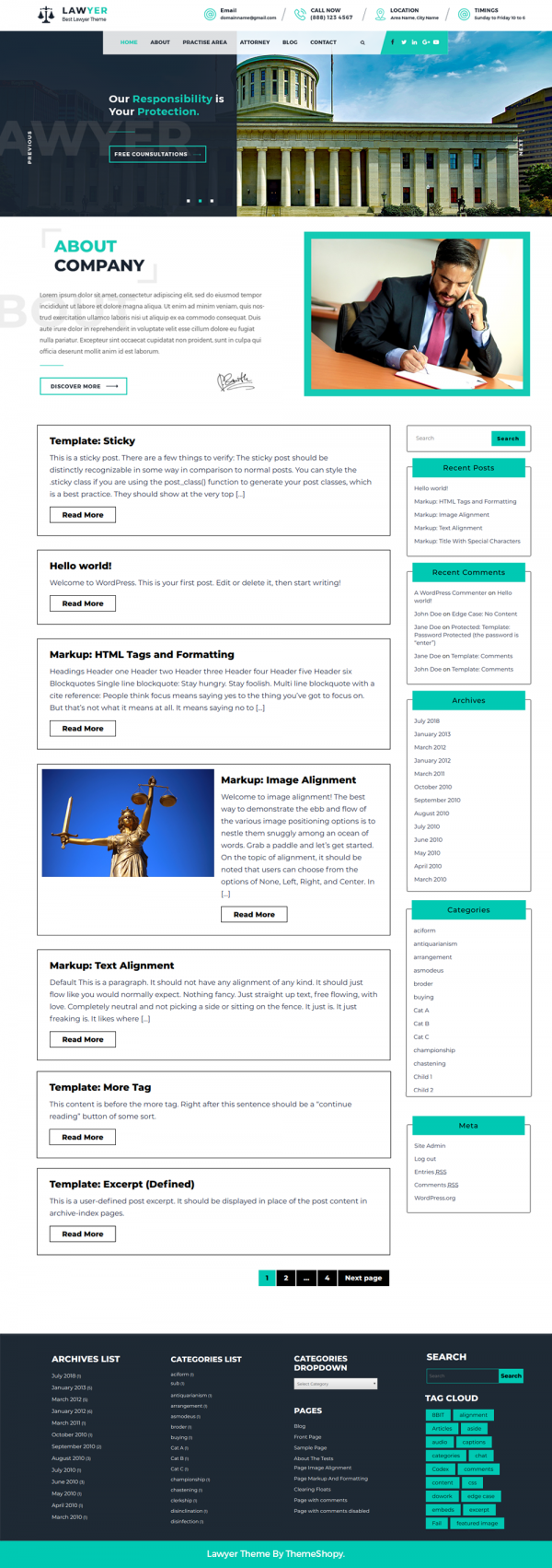 Free Lawyer WordPress Theme