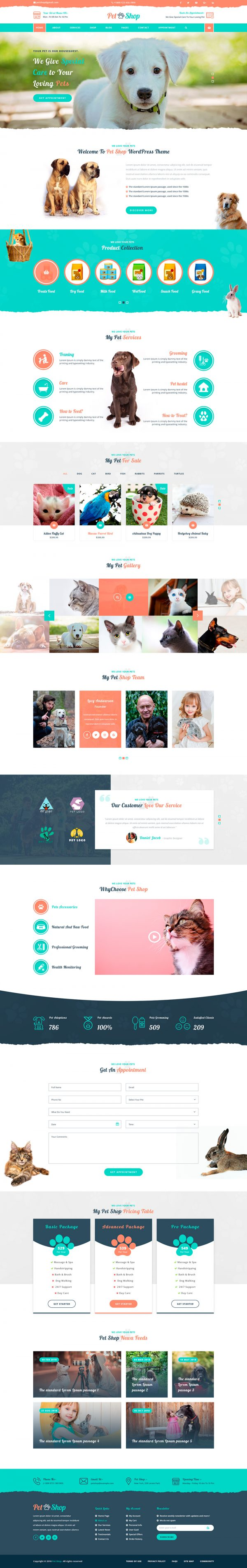Pet WordPress Theme
