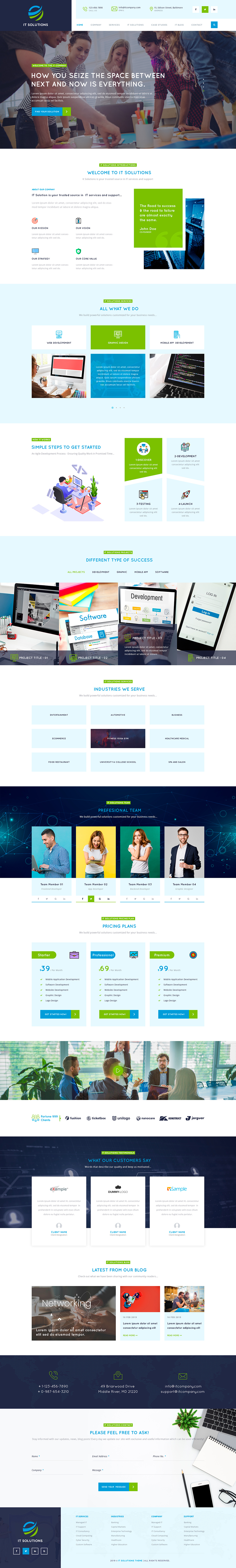 Top IT company WordPress themes for international IT business