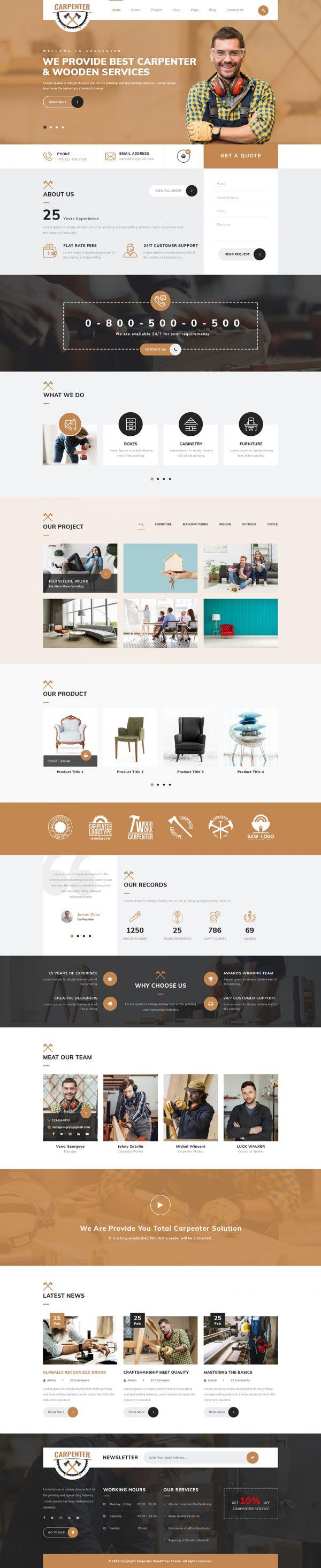 Carpenter WordPress Theme