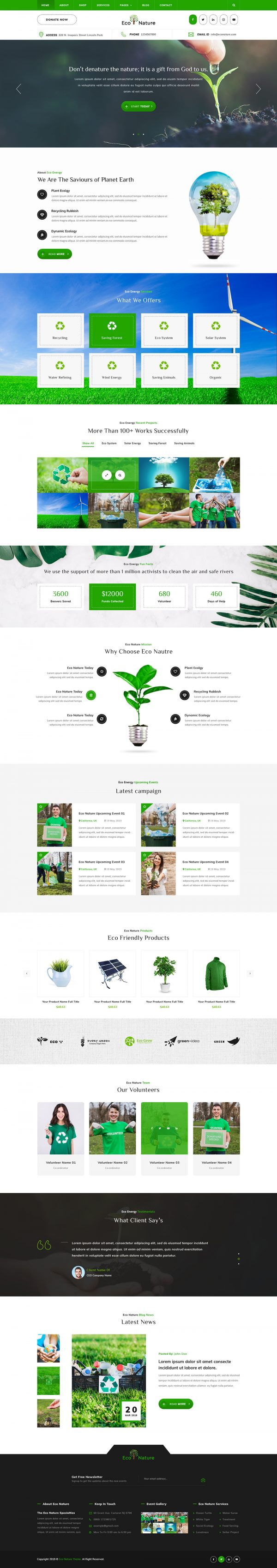 Eco Nature WordPress Theme