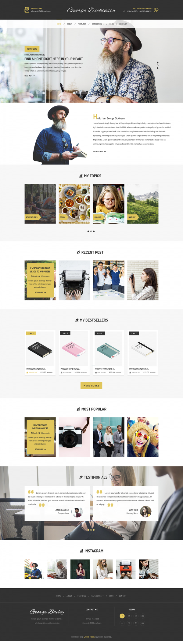Writers WordPress Theme